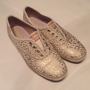 Keds Champion Gold Floral Sneakers
